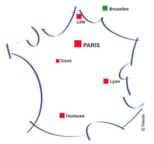 Carte de France pour Vitamine Bridge